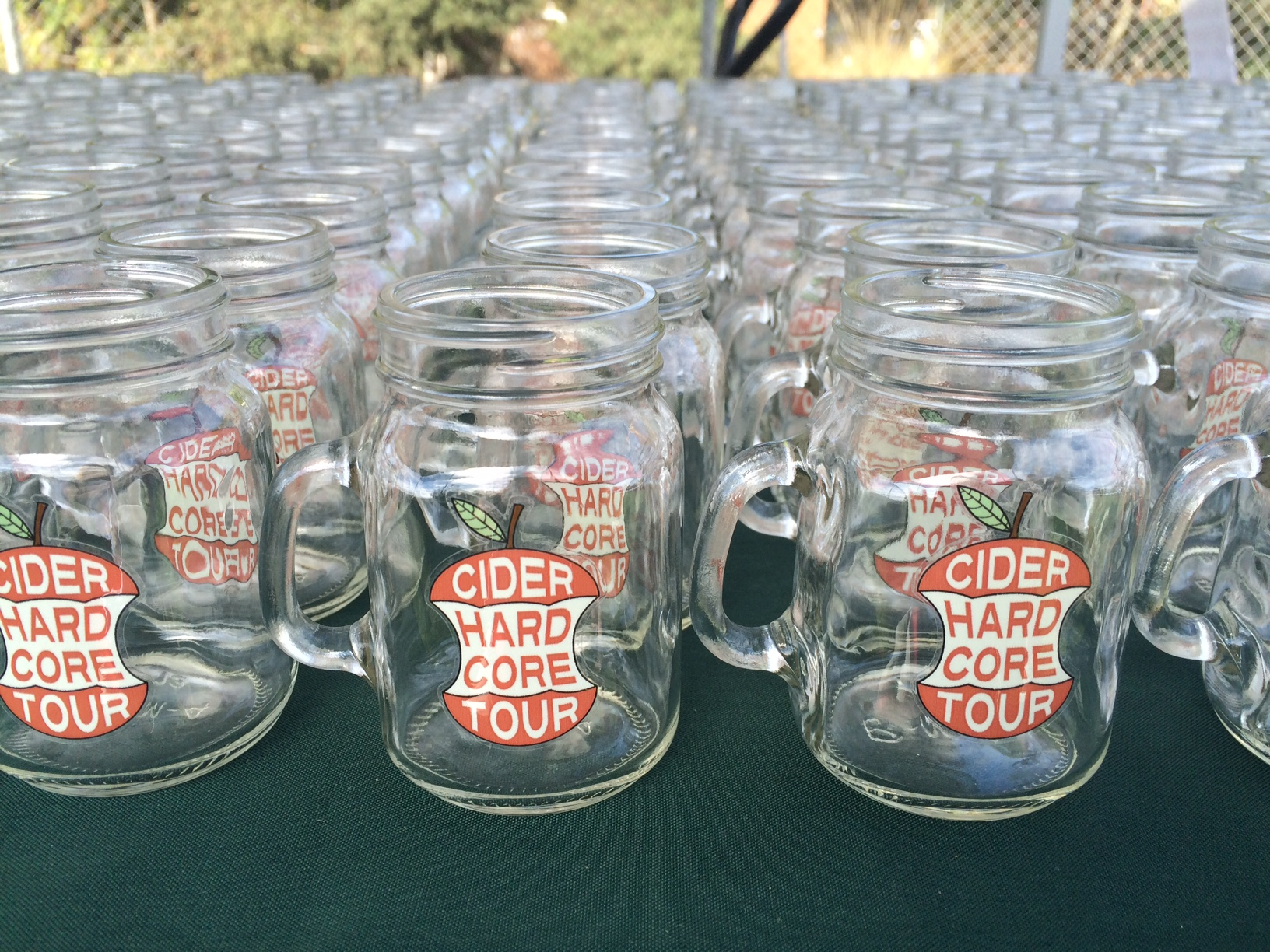 Hard Core Cider Tour tasting mugs