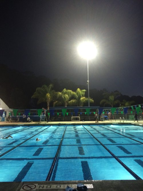 SLO Swim Center night