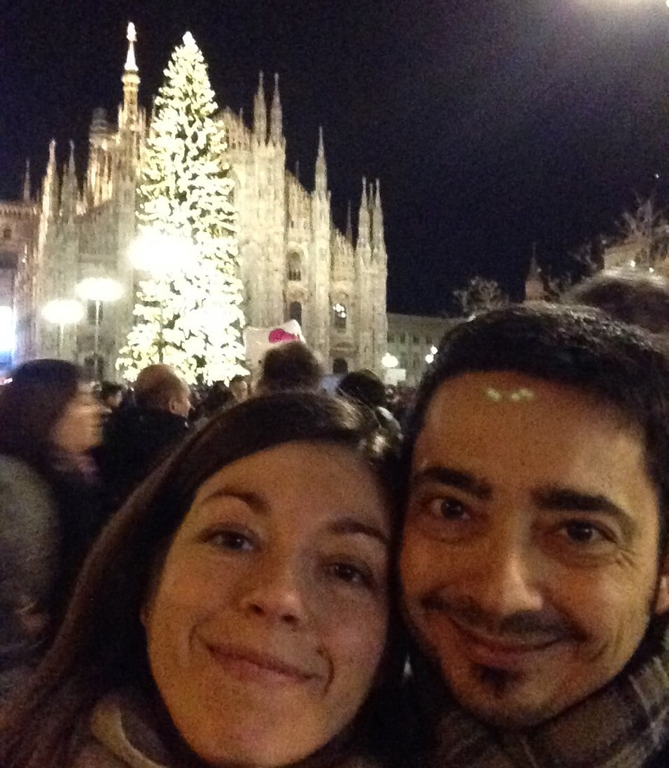 Laura and Gennaro in Milan photo