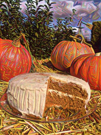 Brown-butter pumpkin cake photo