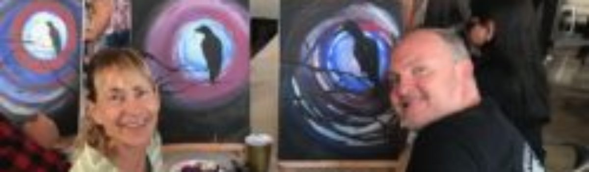 Tooth & Nail Winery: Paint Bar Activity (46 West Wineries, Paso Robles)