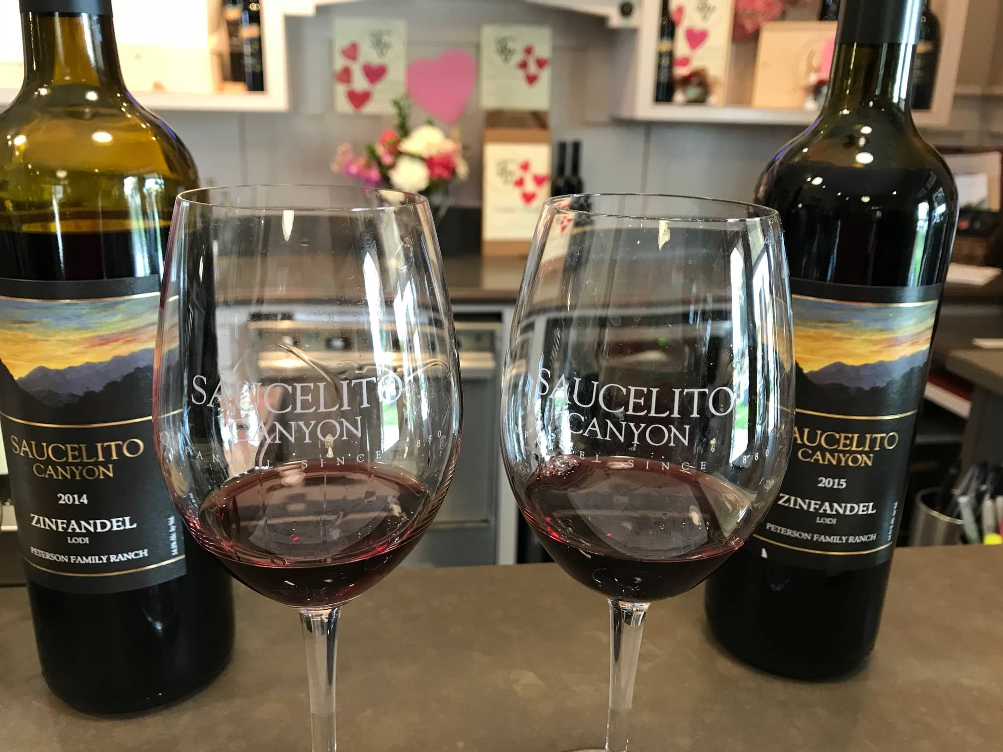 Saucelito Canyon wine glasses image