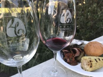 46 West Wineries wine glasses photo